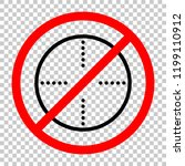 simple target icon. not allowed ... | Shutterstock .eps vector #1199110912