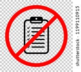 tablet and paper  checklist... | Shutterstock .eps vector #1199110915