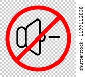 volume minus icon. not allowed  ... | Shutterstock .eps vector #1199112838