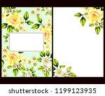 vintage delicate greeting... | Shutterstock .eps vector #1199123935