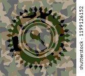 key icon on camo texture   Shutterstock .eps vector #1199126152