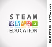 steam stem education concept... | Shutterstock .eps vector #1199133928