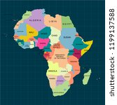 territory of africa with... | Shutterstock .eps vector #1199137588