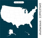 states of america territory ... | Shutterstock .eps vector #1199137645