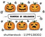 pumpkin of halloween.   Shutterstock .eps vector #1199138302
