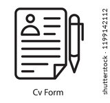 paper with profile and pencil... | Shutterstock .eps vector #1199142112