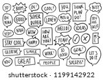 collection of speech bubbles... | Shutterstock .eps vector #1199142922