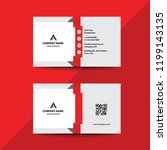 clean flat design premium red... | Shutterstock .eps vector #1199143135
