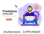 freelance online job design... | Shutterstock .eps vector #1199144665
