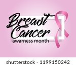 breast cancer awarness month... | Shutterstock .eps vector #1199150242