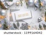 christmas gift  christmas balls ... | Shutterstock . vector #1199164042