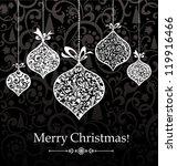 vintage christmas greeting card.... | Shutterstock .eps vector #119916466