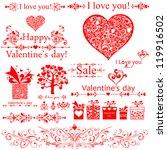 i love you  valentine's day.... | Shutterstock .eps vector #119916502