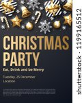 christmas party poster template ... | Shutterstock .eps vector #1199165512