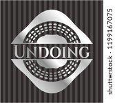 undoing silver badge or emblem   Shutterstock .eps vector #1199167075