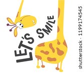 let's smile a positive... | Shutterstock .eps vector #1199174545