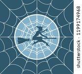 cobweb background. spiderweb... | Shutterstock .eps vector #1199174968