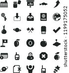 solid black flat icon set mark... | Shutterstock .eps vector #1199175052