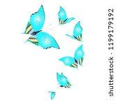 beautiful butterflies  blue... | Shutterstock .eps vector #1199179192