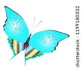 beautiful butterflies  blue... | Shutterstock . vector #1199180332