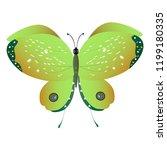 beautiful green butterflies ... | Shutterstock . vector #1199180335