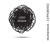 logo design. vector hand drawn... | Shutterstock .eps vector #1199180452