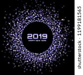 new year 2019 card background.... | Shutterstock .eps vector #1199181565