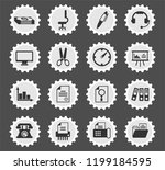 office web icons stylized... | Shutterstock .eps vector #1199184595