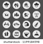 natural disasters web icons... | Shutterstock .eps vector #1199184598