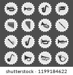 wind instruments web icons... | Shutterstock .eps vector #1199184622