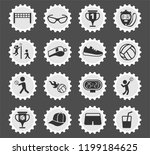 volleyball vector icons for web ...   Shutterstock .eps vector #1199184625