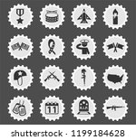 veterans day web icons stylized ...   Shutterstock .eps vector #1199184628