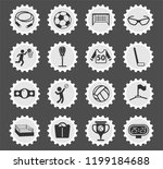sport web icons stylized... | Shutterstock .eps vector #1199184688
