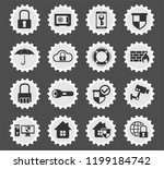 security web icons stylized... | Shutterstock .eps vector #1199184742