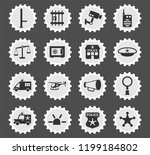 police department web icons... | Shutterstock .eps vector #1199184802