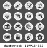 pawn shop web icons stylized... | Shutterstock .eps vector #1199184832