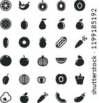 solid black flat icon set hot... | Shutterstock .eps vector #1199185192