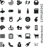 solid black flat icon set baby... | Shutterstock .eps vector #1199185342