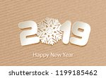 happy new year 2019. numbers 2  ... | Shutterstock .eps vector #1199185462