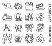 solid vector icon set  ...   Shutterstock .eps vector #1199185765