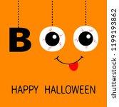 happy halloween. hanging word... | Shutterstock . vector #1199193862