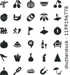solid black flat icon set wind... | Shutterstock .eps vector #1199196778