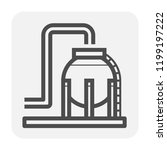 gas tank and pipeline icon... | Shutterstock .eps vector #1199197222