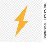 vector lightning bolt  flash... | Shutterstock .eps vector #1199197408