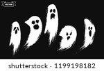 set of horrible hand drawn... | Shutterstock .eps vector #1199198182