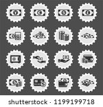 money symbols web icons... | Shutterstock .eps vector #1199199718
