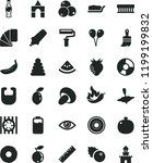 solid black flat icon set paint ... | Shutterstock .eps vector #1199199832
