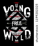 young free wild print for t... | Shutterstock .eps vector #1199202325