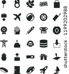 solid black flat icon set house ... | Shutterstock .eps vector #1199202988