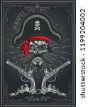 jolly roger pirate skull   Shutterstock .eps vector #1199204002